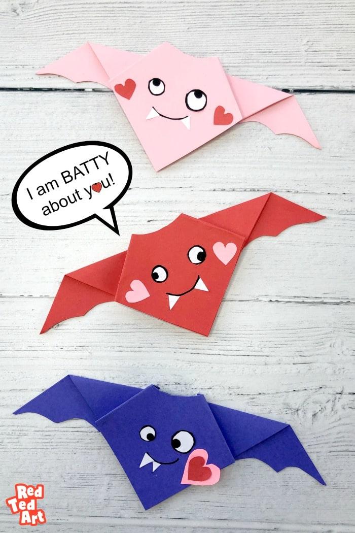 Easy Valentine's Origam Bat