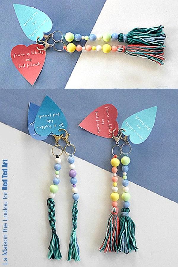 Valentine's Day Keychain gift for kids to make