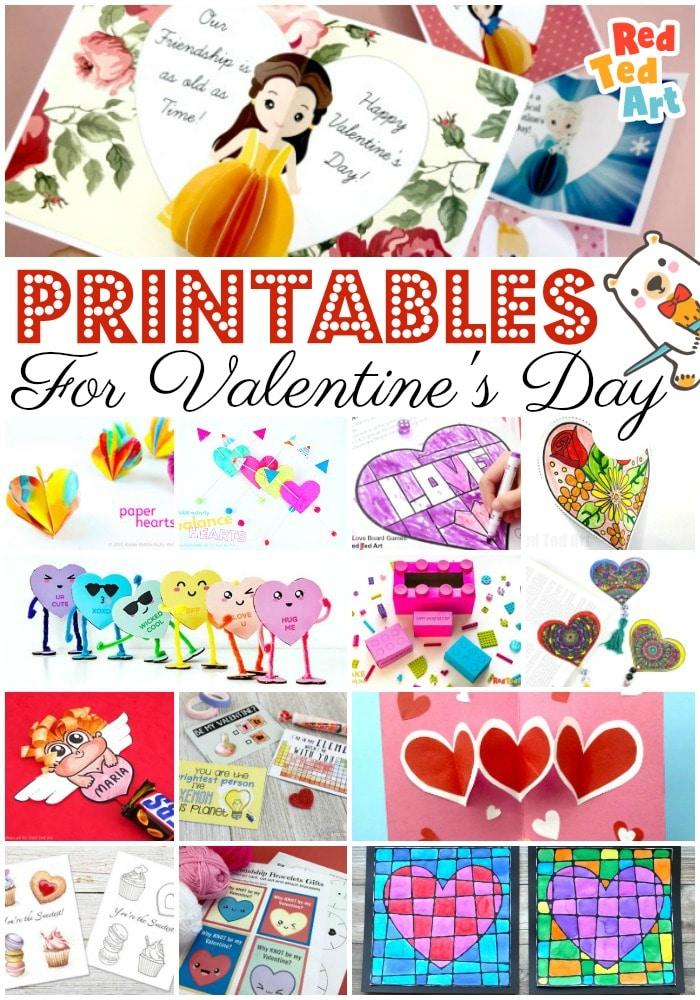 Make Valentine's Day EASY with this fantastic set of Valentine's Printables for kids. From printable cards, to templates to create your own, to gifts & more