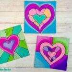 Chalk Pastel Heart Art for Valentine's Day