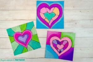 How to use chalk pastels - Heart Art for Valentines