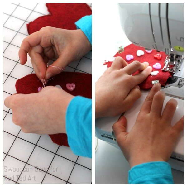 How to sew hearts by hand or sewing machine