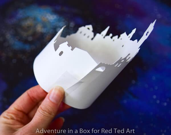 Paper Tea Light Luminary - gorgeous Winter decor
