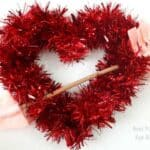 step 5 - valentines day tinsel heart craft