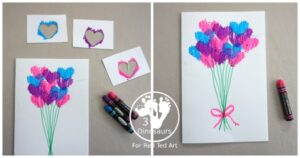Oil Pastel Heart Cards for Valentines Day or Mother's Day