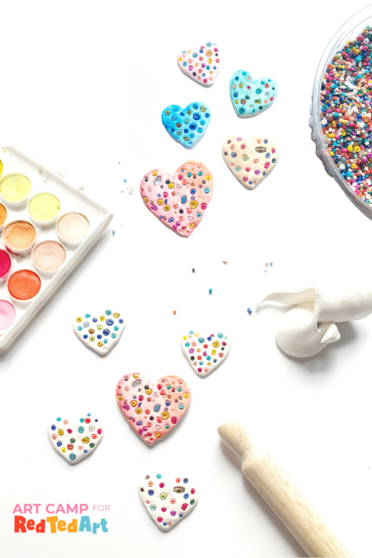 Easy Mosiac Heart Pins for Valentines