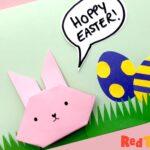 Hoppy Easter Card - Origami Bunny