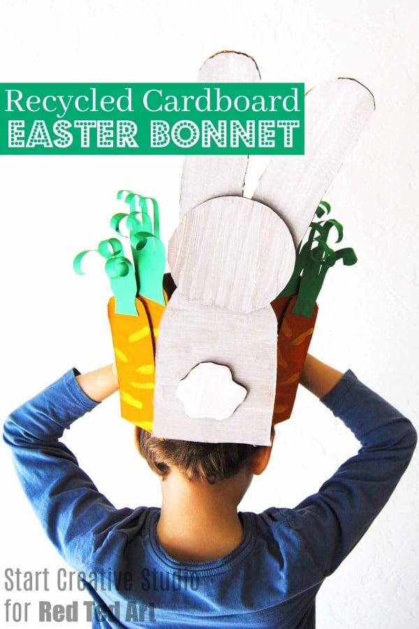 How to make a cardboard bunny Easter Bonnet