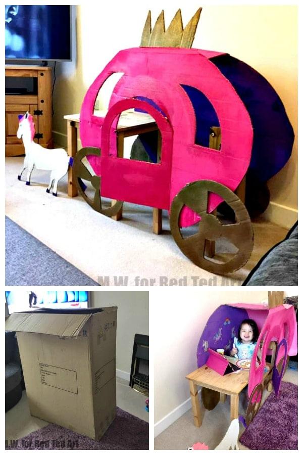 Cardboard Box Princess Carriage