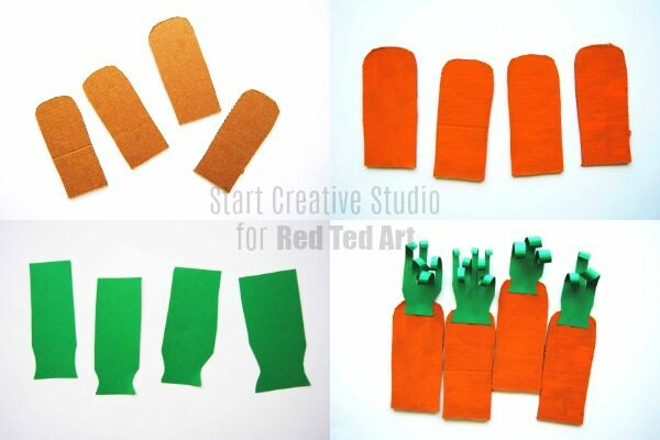Make your giant cardboard carrots