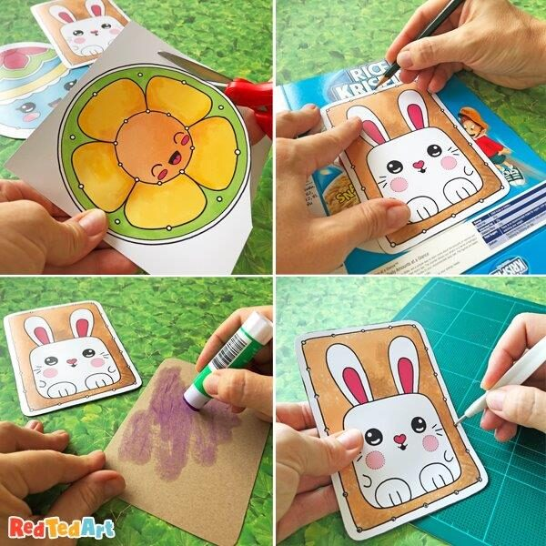 How to use your Easter Lacing Card printables