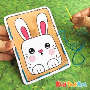 Easter Lacing Cards - free printable bunny