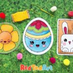 Easter Lacing Cards for Preschool
