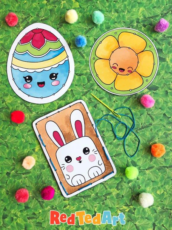 Easter Lacing Cards