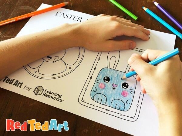 Easter Lacing Cards Coloring Pages