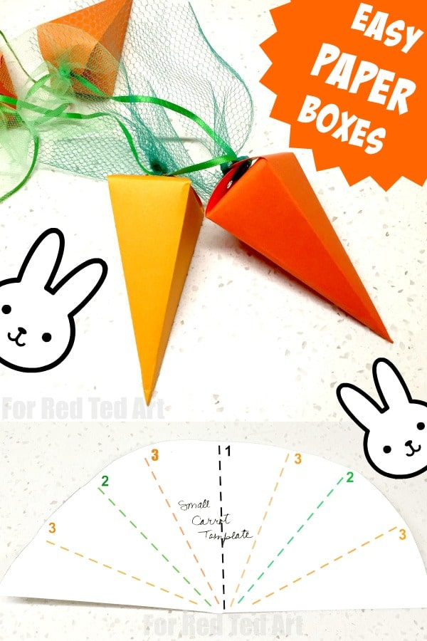 Easy Carrot Paper Box for Easter Treats