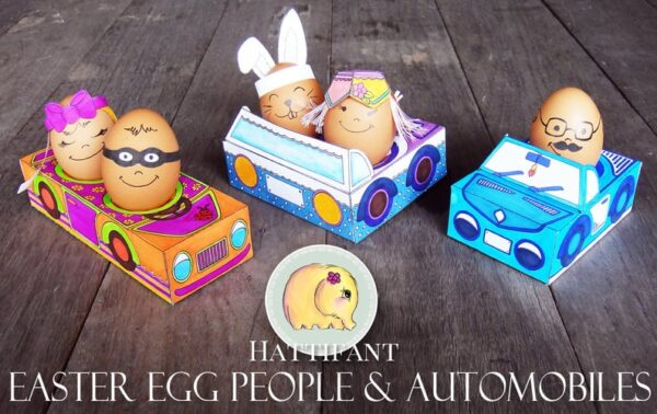 Egg People in printable cars