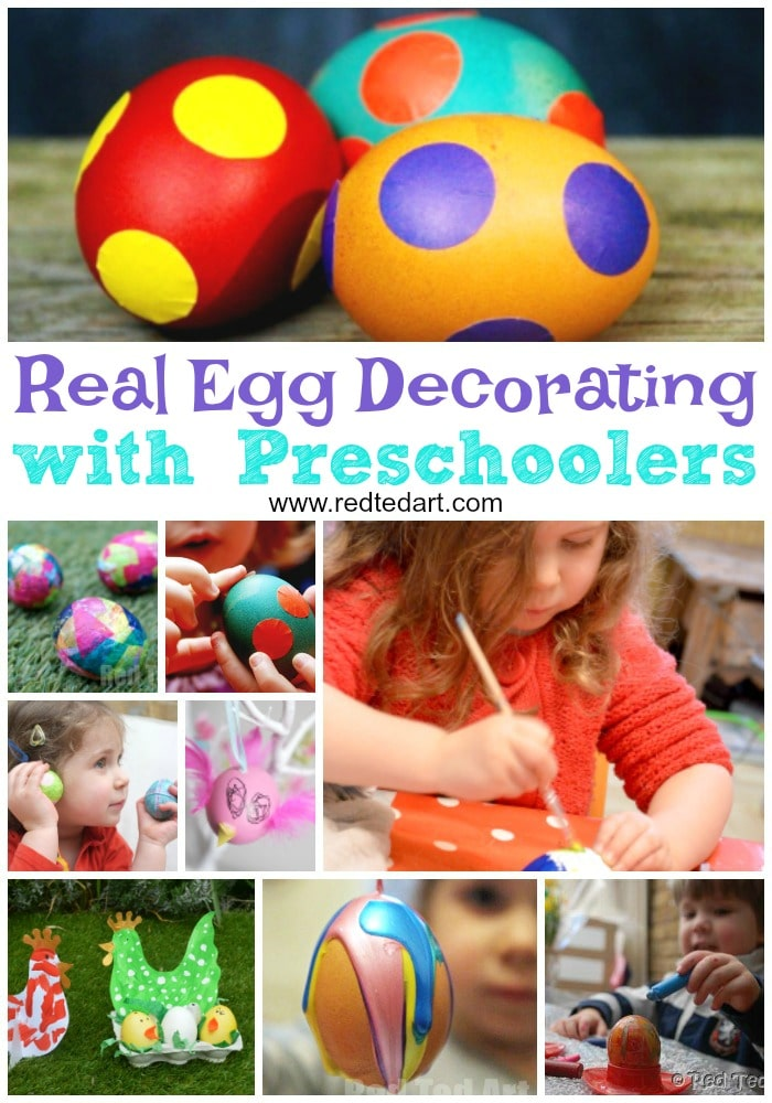 Real Egg decorating ideas for preschoolers