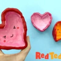 Air Drying Clay Heart Bowls