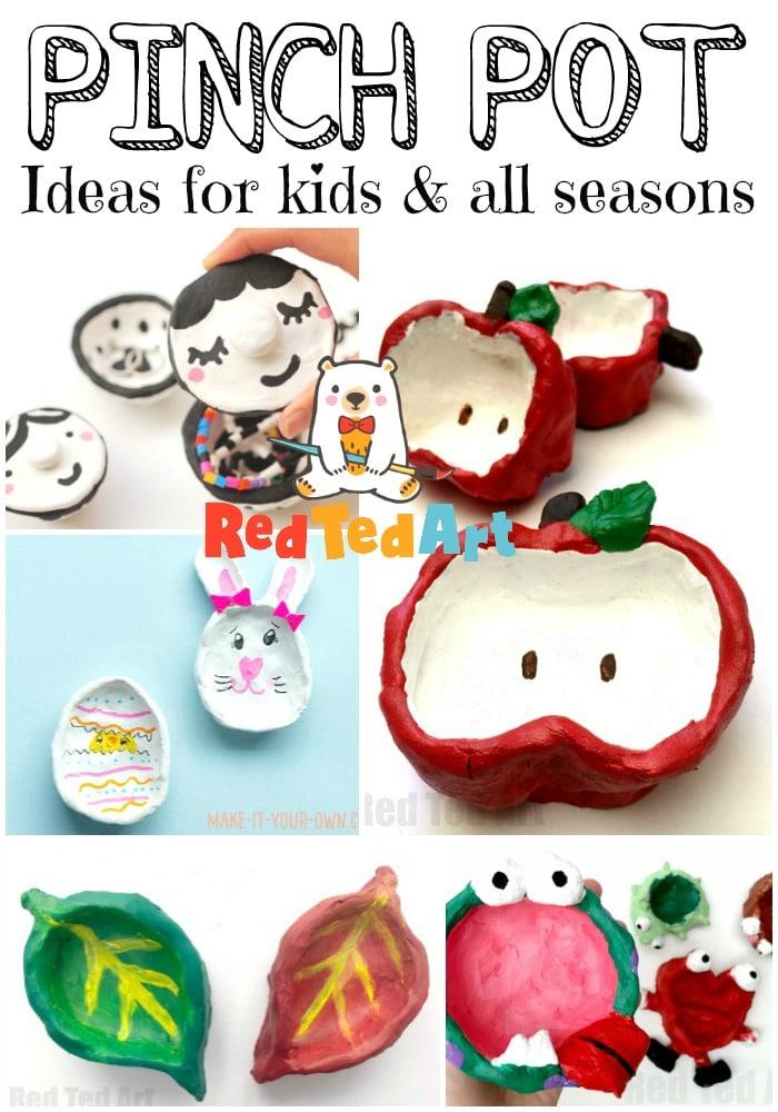 Creative Pinch Pot ideas for all seasons