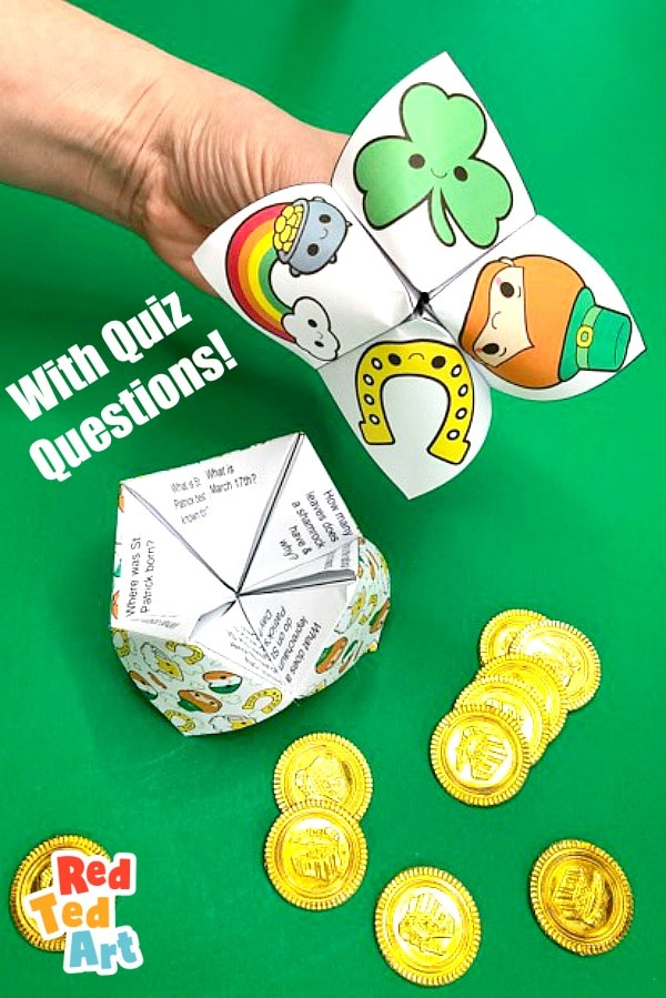 St Patrick's Day Quiz Cootie Catcher