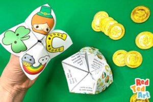 Fortune teller printables for st Patrick's Day