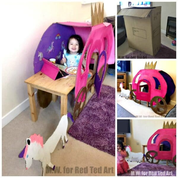 DIY Princess Carriage from Cardboard