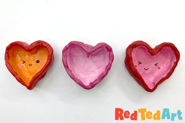 Pinch Pot Hearts for Kids