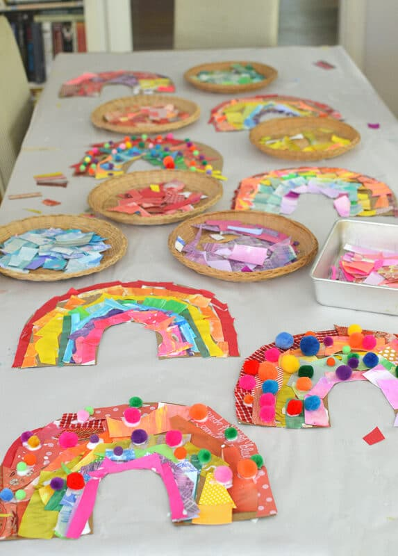 Rainbow Collages for St Patrick's Day Crafting