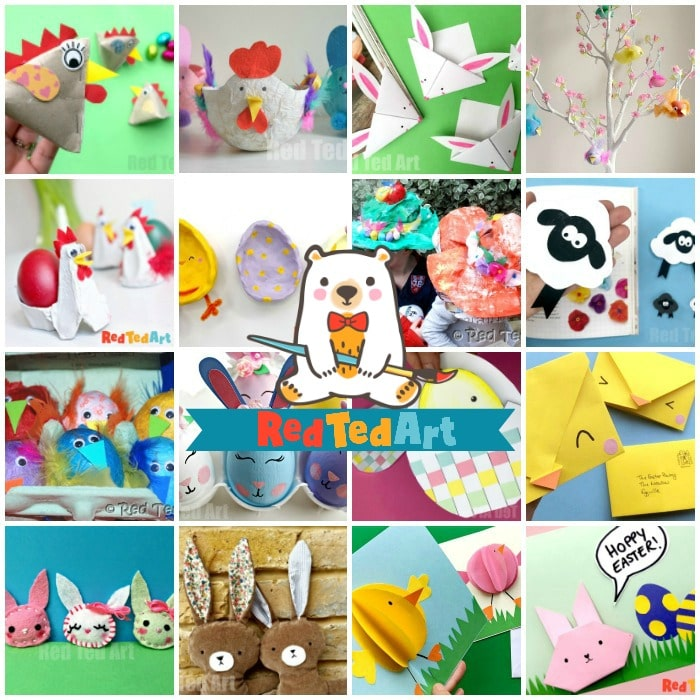 40 Easy Easter Ideas Crafts For Kids Red Ted Art Make