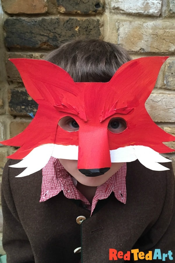 Fantastic Mr Fox Mask For World Book Day Red Ted Art Make Crafting With Kids Easy Fun