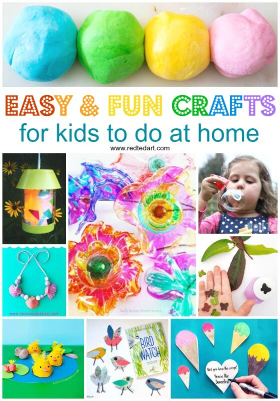 A fun mix of easy crafts for kids to do all year around!