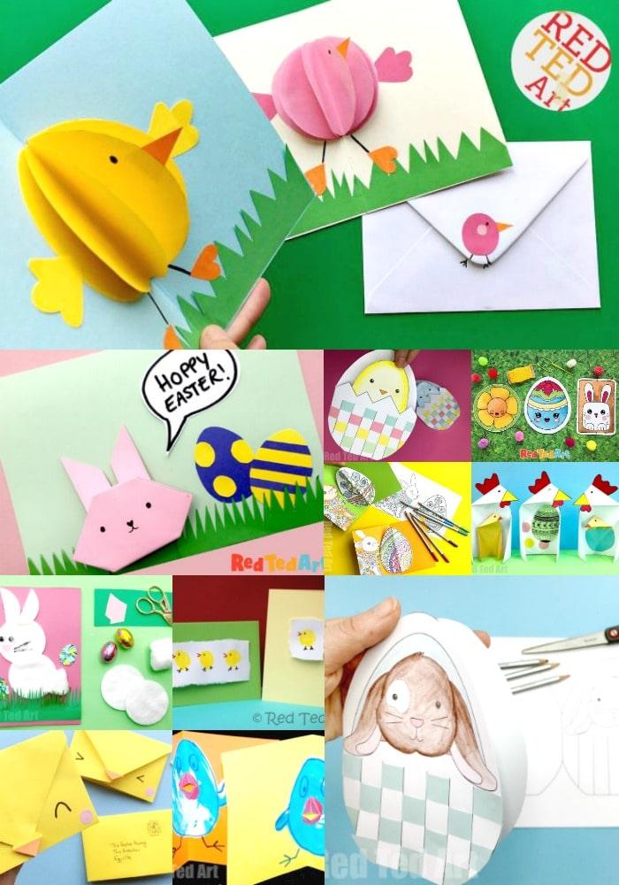 Handmade Easter Cards for Kids