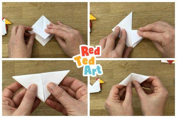 folding a paper tangram