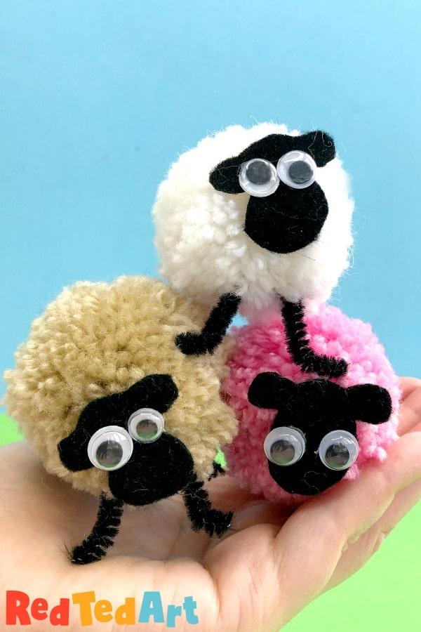 Pom Pom Sheep Pile
