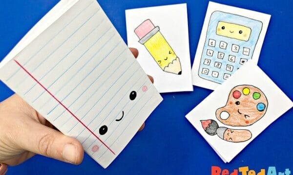 Easy no glue mini notebooks