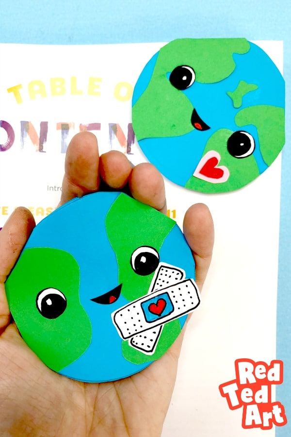 Earth Day Heal the World Bookmark