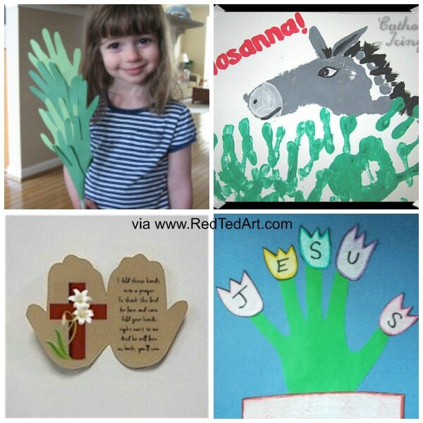 Religious Handprint Easter Crafts