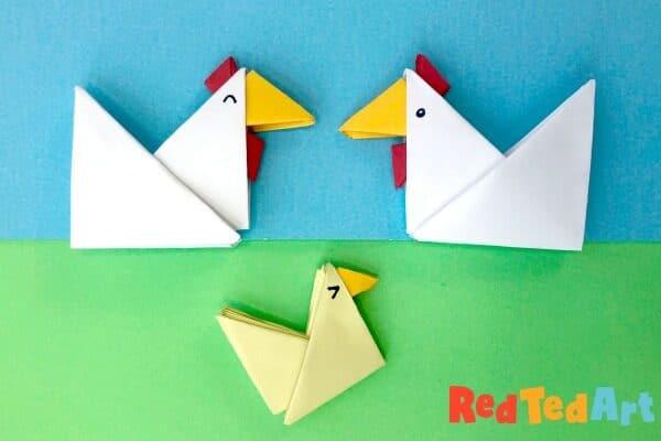 Tangram Origami Chicken