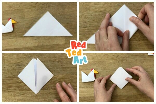 how to make a origami tangram