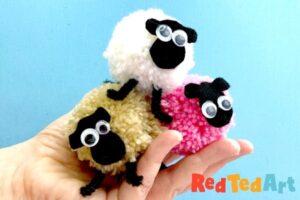 How to make pom pom sheep