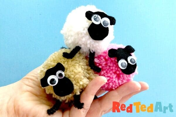 How to make pom pom sheep