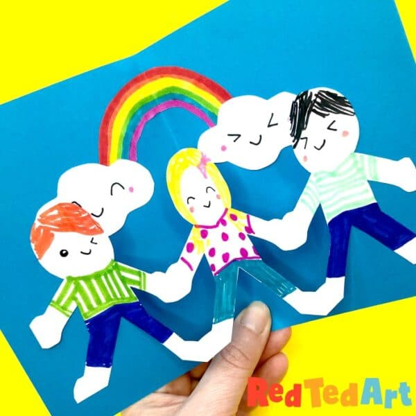Easy Pop Up Friendship Card for CHildrens day
