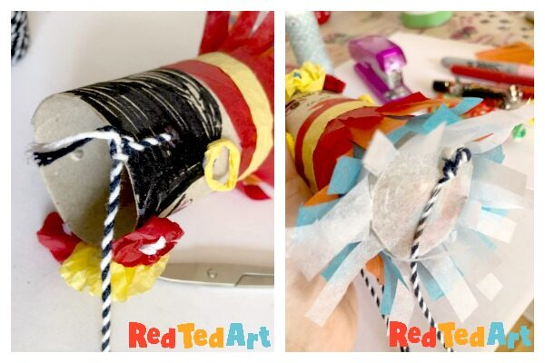 Adding your TP Roll Mini Pinata pully string
