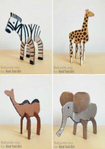 Easy cardboard animals