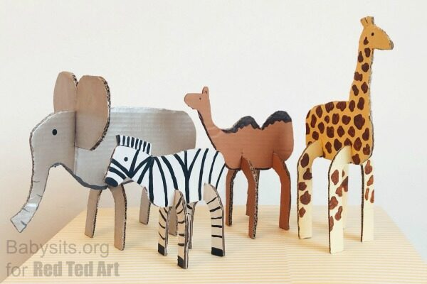 Easy cardboard animals