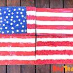 Finished Large Flag Art Project