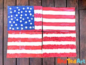 Finished Large Flag Art Project