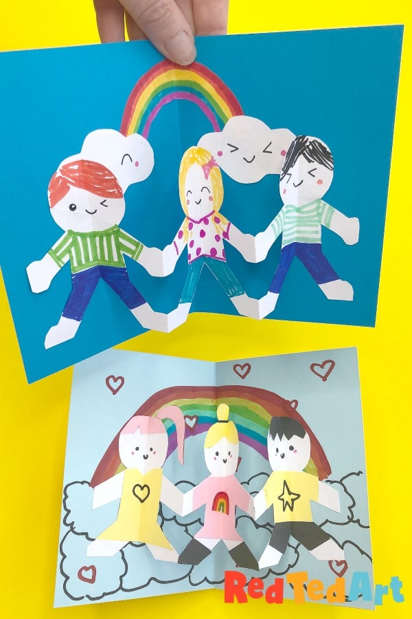 Easy Pop Up Friend Card