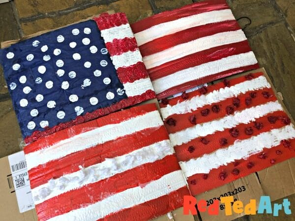Collaborative American Flag Art